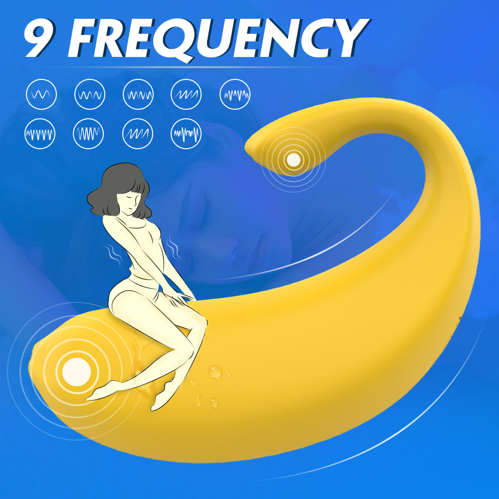 Women wireless remote control banana jump love egg clit vibrator